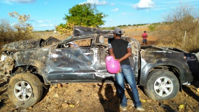 Capotamento de Hilux em Canarana mata duas pessoas e deixa outras duas gravemente feridas