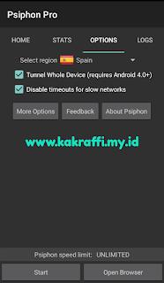 Cara Setting Psiphon Pro Telkomsel OMG dan MaxStream Full Speed