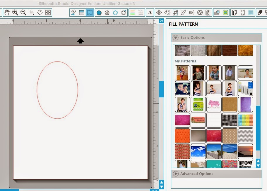Silhouette tutorial, DIY, do it yourself, personalized, photo stickers, draw an ellipse, Silhouette Studio