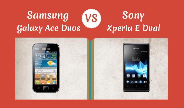 Samsung-Galaxy-Ace-Duos-Vs-Sony-Xperia-E-Dual #Infographic