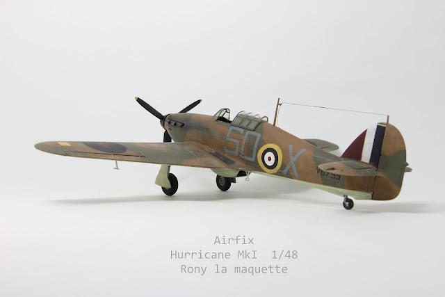 Maquette Hurricane MkI Airfix 1/48.