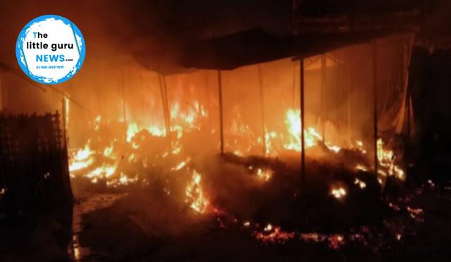बड़ी खबर: मोतिहारी मीना बाजार सब्जी मंडी में लगी आग, लाखों की संपत्ति हुई खाक