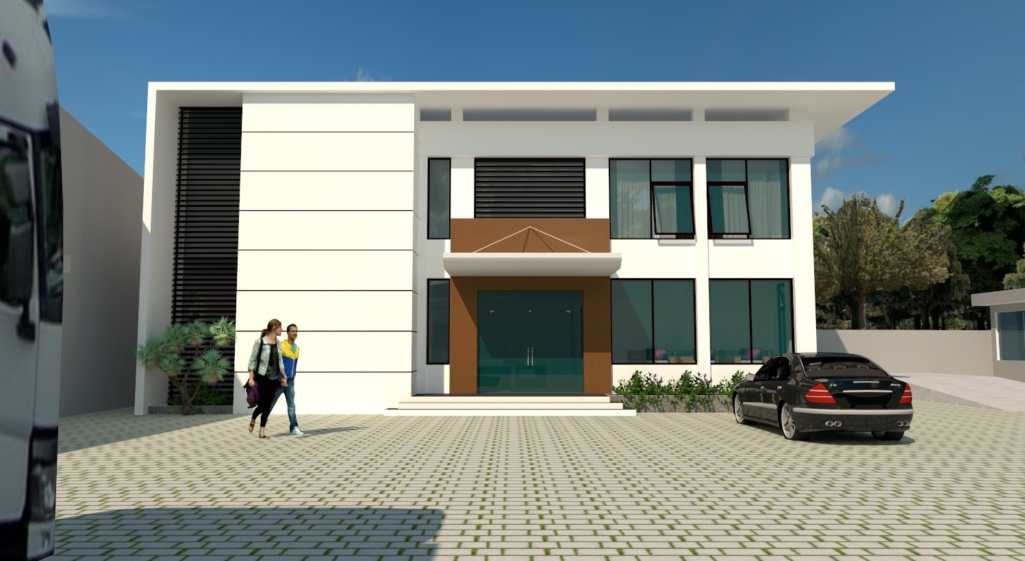 Modern 2-storey Office Building Architectural Drawings [DWG]
