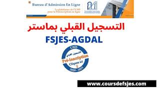 Fsjes-Agdal: Master | Préinscription en Ligne UM5