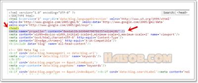 Cara daftar dan pasang iklan Propeller Ads Media ke Blog 7