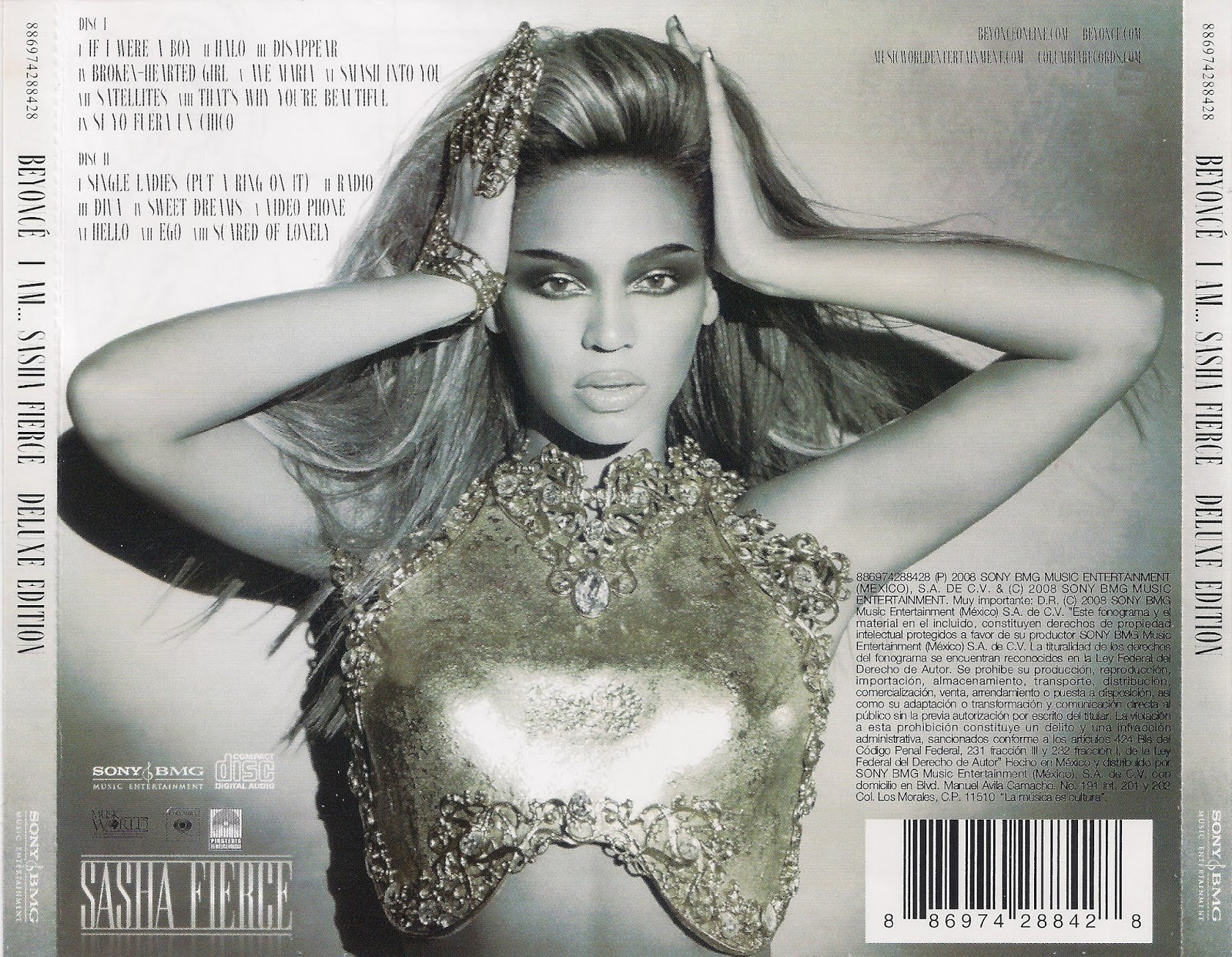 Beyonce - I Am... Sasha Fierce  Contraportada