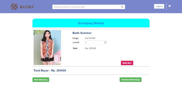 Toko Online Pakaian Batik Berbasis Web