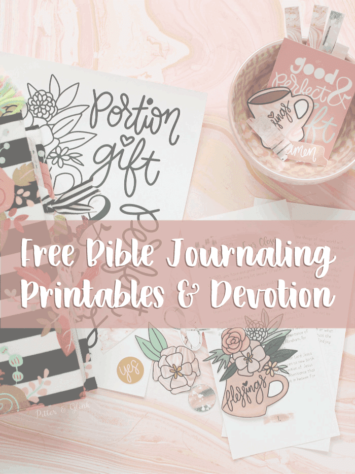 Free Bible Journaling Printables and Devotion