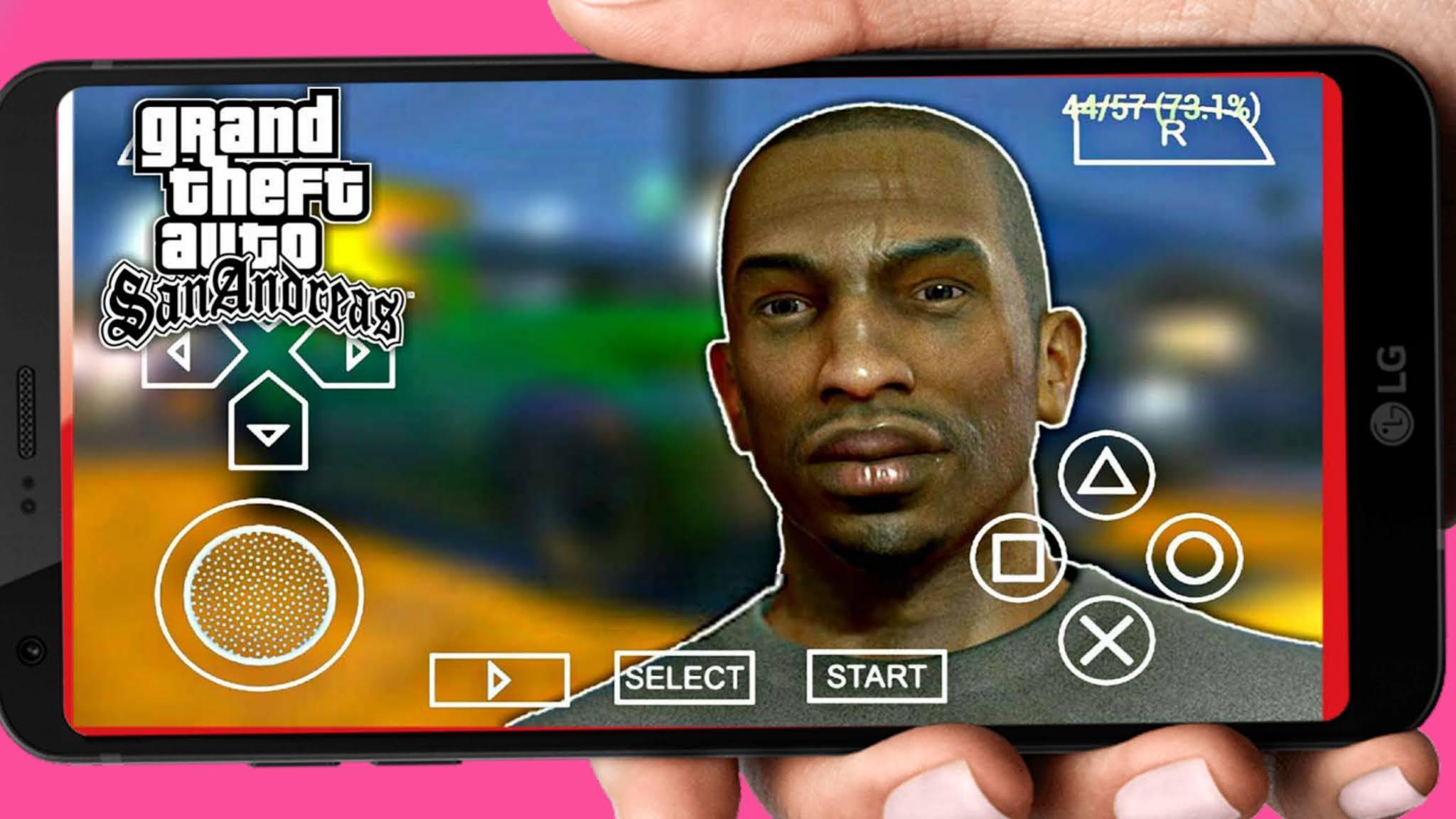 لعبة Gta San Andreas على المحاكي PPSPP للموبايل جراند