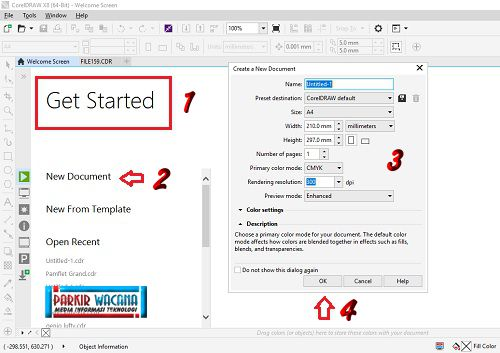Gambar Get Started - Create New Document