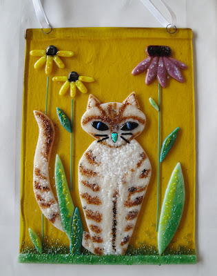 Fused Glass Cat by flutterbybutterfly flutterbyfoto