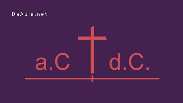 História: Antes de Cristo / Depois de Cristo