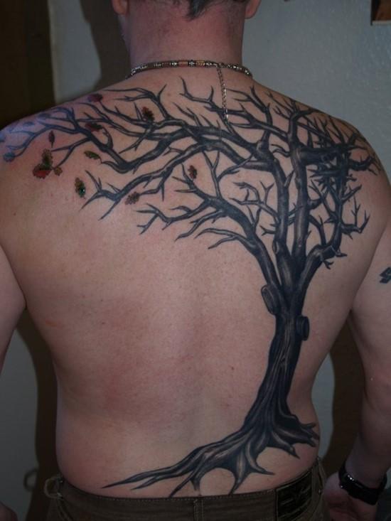 tatuaje de arbol