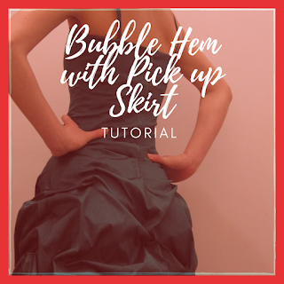 bubble hem pick up skirt tutorial