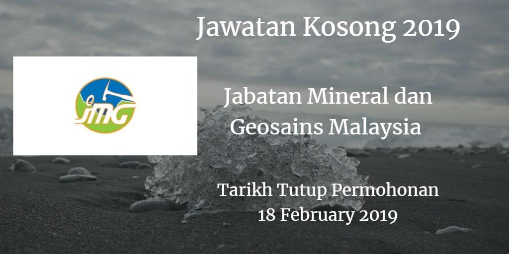 Jawatan Kosong JMG 18 February 2019