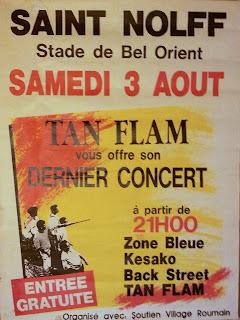 Affiche concert Tan Flam, Zone Bleue Saint Nolff
