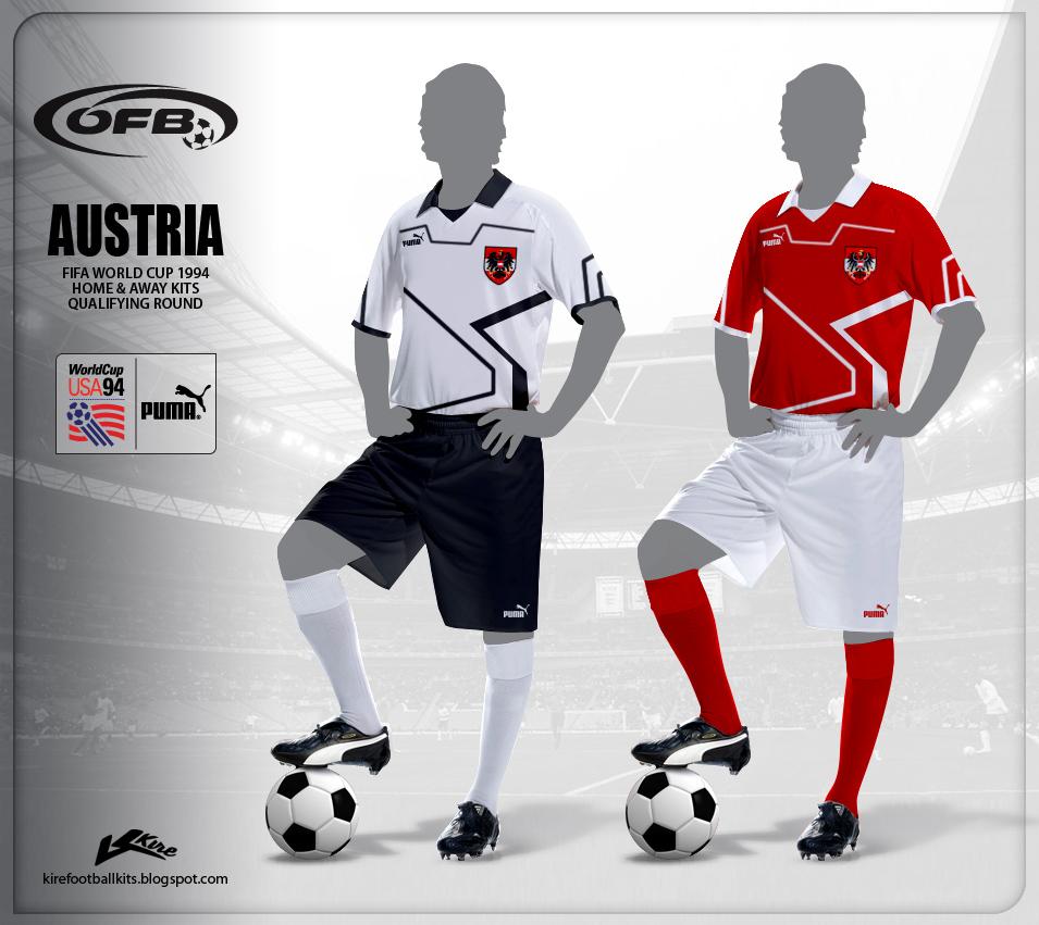 e15780489 Kire Football Kits  Austria kits World Cup 1994 Qualifiers