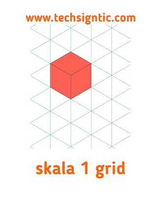 grid scale for isometric art, techsigntic.com