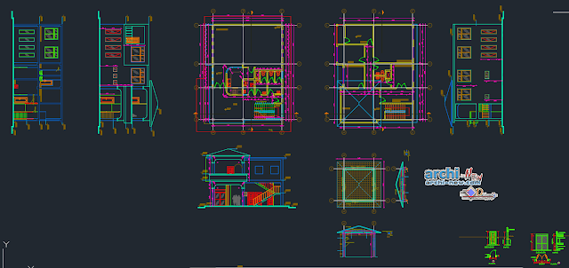 Social and administrative parish building in AutoCAD