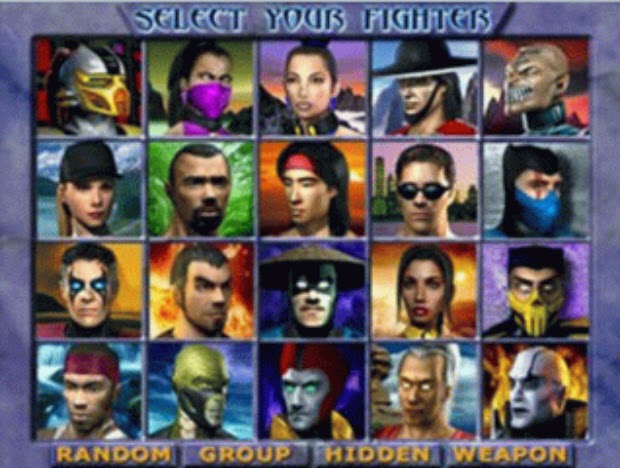 Mortal Kombat 4 Characters of PC Game