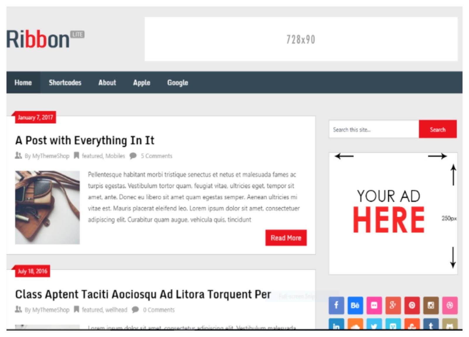 Ribbon WordPress Theme