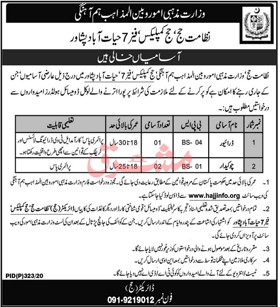 ministry-of-religious-affairs-and-interfaith-harmony-jobs-2020-21