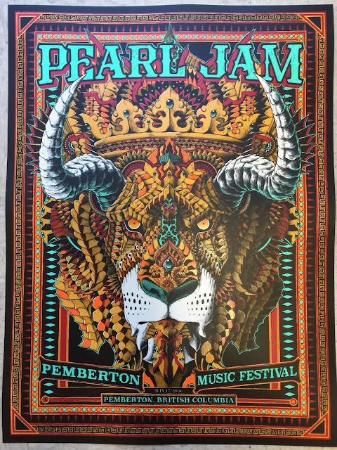Inside The Rock Poster Frame Blog Pearl Jam Bioworkz