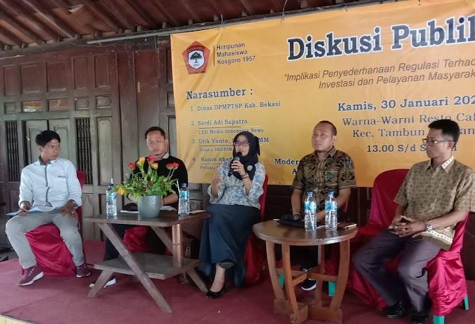 Puluhan Mahasiswa Dan Masyarakat Se-Kabupaten Bekasi Ikuti Diskusi