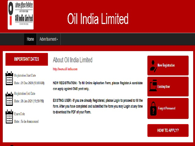 Oil India Recruitment 2020: Apply now for 65 vacancies for various posts