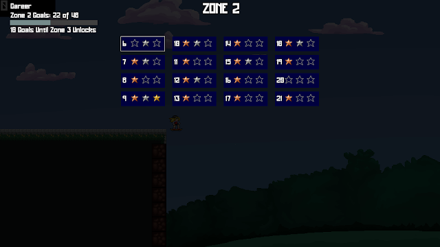 Screenshot of Zone 2 level select screen from Skater Cally
