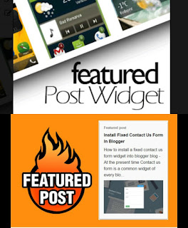 How to customized blogger featured post