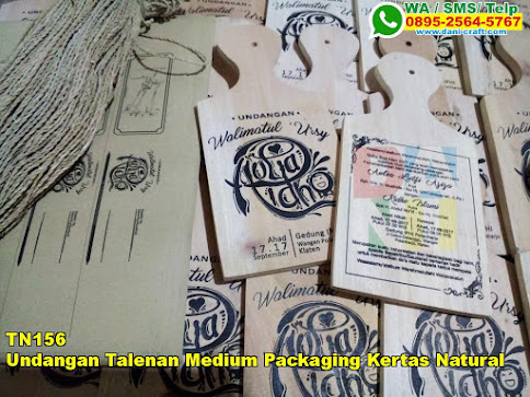 Jual Undangan Talenan Medium Packaging Kertas Natural