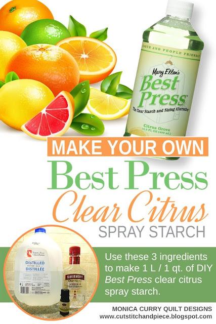 Best Press Spray Starch Recipe - Monica Curry Quilt Designs