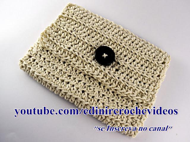 bolsa de mão em croche clutch euroroma aprender croche edinircrochevideos youtube curso de croche facebook hinode