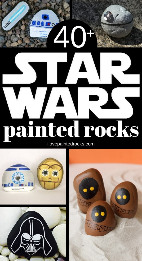 More than 40 Star Wars inspired rock painting ideas. From Baby Yoda to the death star, princess leia, chewbacca and more - you'll find a rock for every Star Wars character you could ever want.