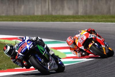 Jorge Lorenzo memenangi duel lap terakhir ganas dengan Marc Marquez