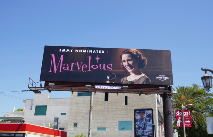 Mrs Maisel season 2 Emmy Nominated billboard