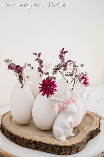 Eierkranz mit Trockenblumen