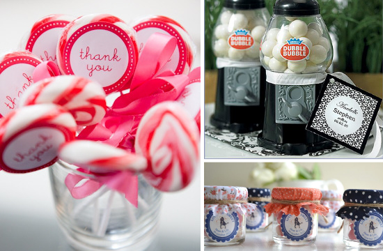 Candy wedding favors idea