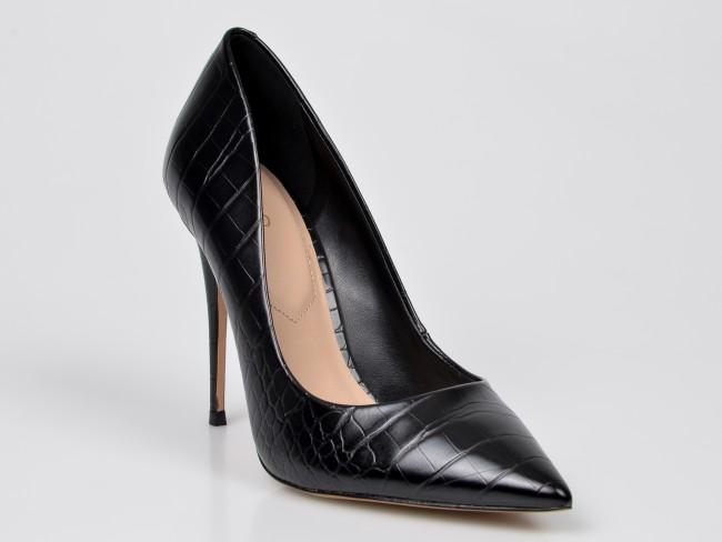 Pantofi cu toc inalt office ALDO negri din piele ecologica