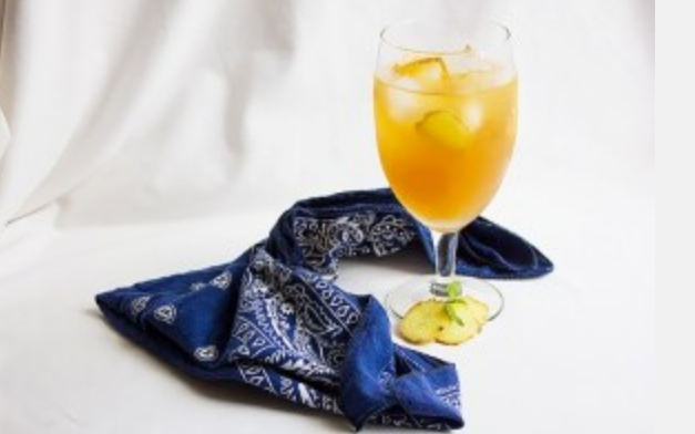 Ginger and lemon cold tea for slimming
