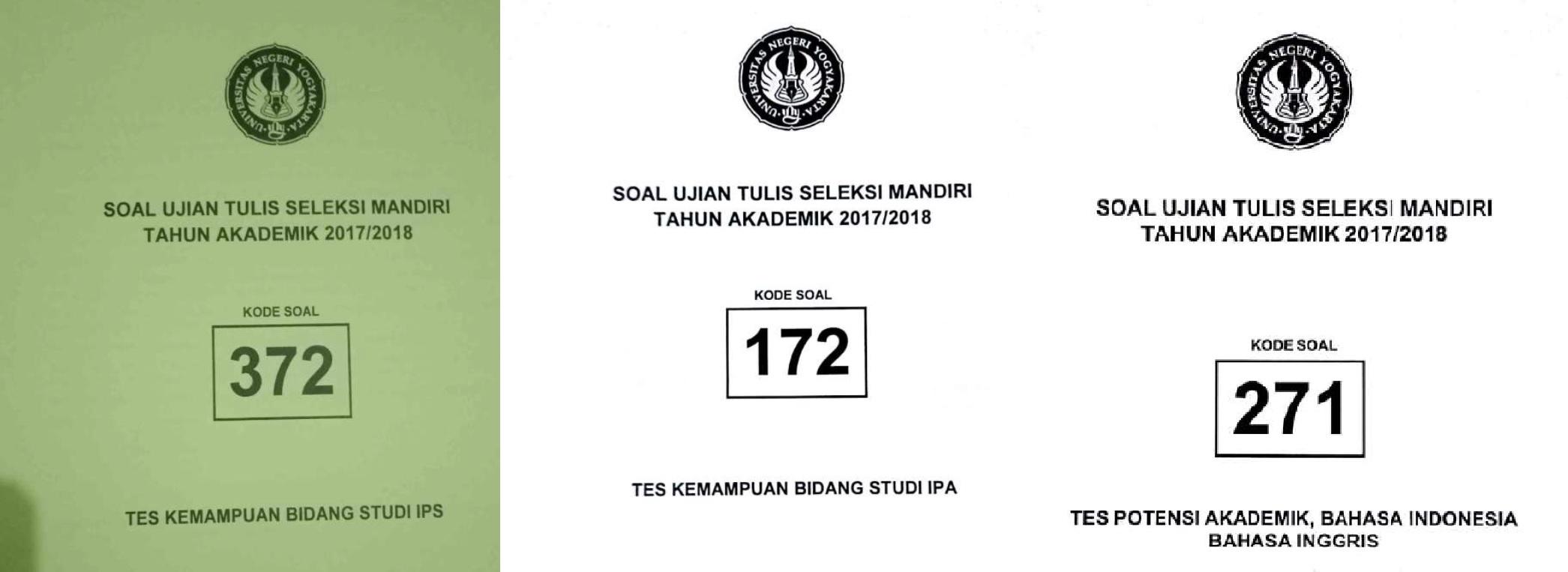 Kumpulan Soal Seleksi Mandiri Universitas Negeri Yogyakarta (SM-UNY)