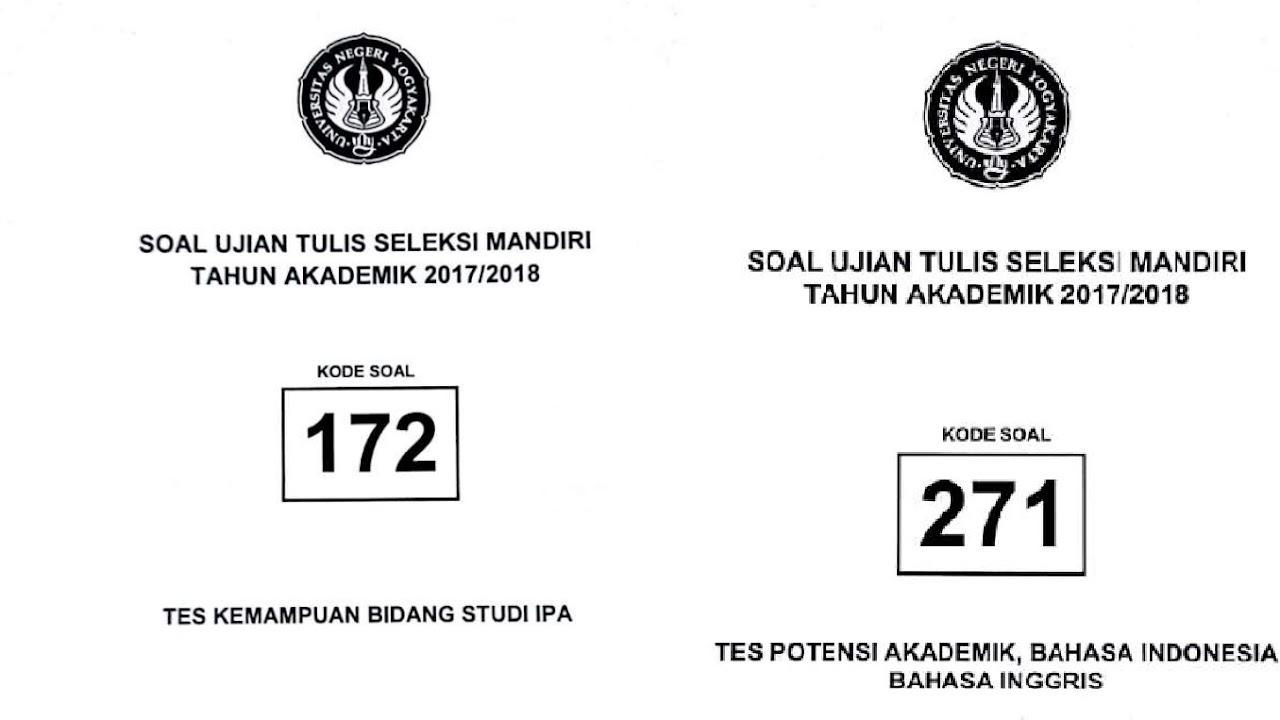 Soal Seleksi Mandiri Uny 2016 Sedang