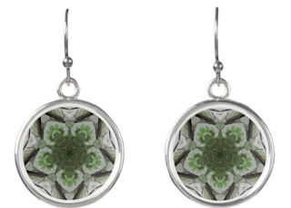 Tree Mist Earrings Pattern Art Jewelry