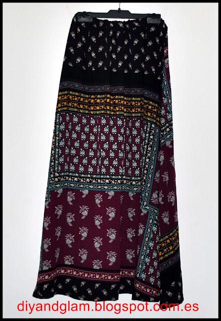 DIY maxi falda étnica