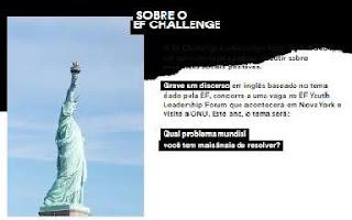 Cadastrar Concurso EF Challenge 2020 Viagem Para Nova York
