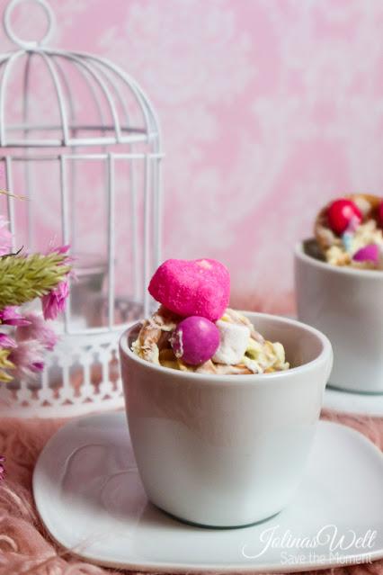 rosa Crunch mit Herz zum Verschenken in Tasse