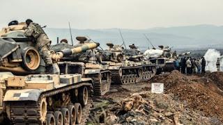 القوات التركية تجتاح شمال سوريا لمحاربة الأكراد