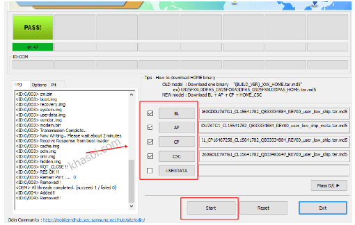 menambahkan firmware samsung a51 binary