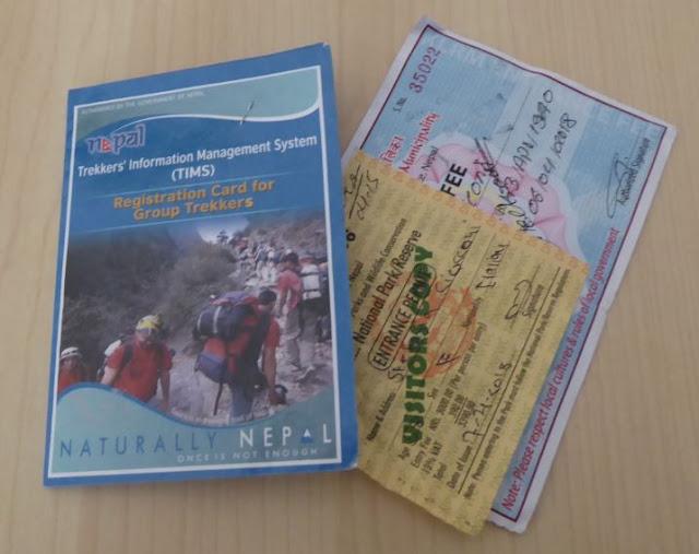 TIMS per trekking di gruppo in Nepal